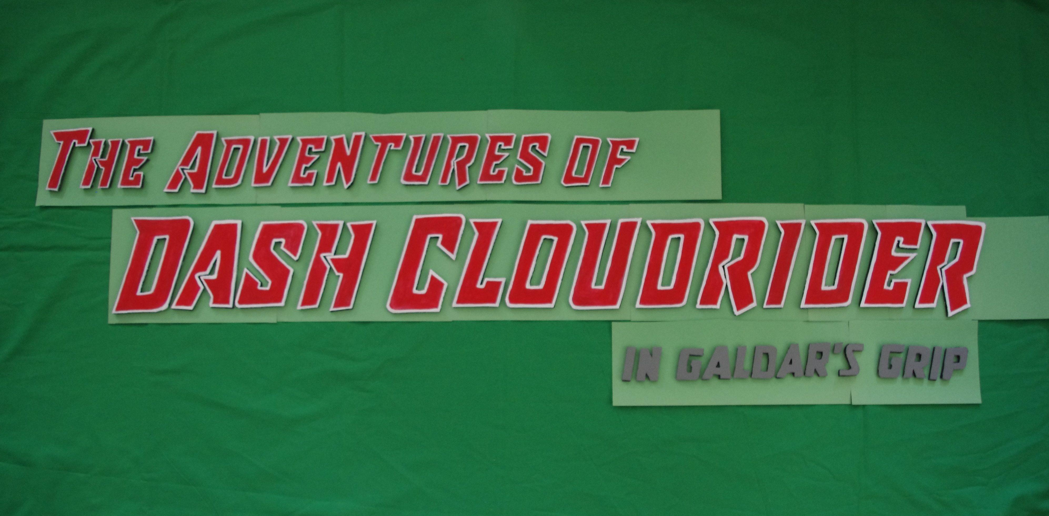 The Adventures of Dash Cloudrider - Title Art